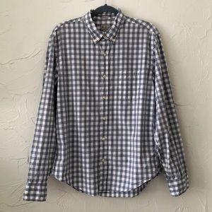 J. Crew Gingham Button Up Shirt